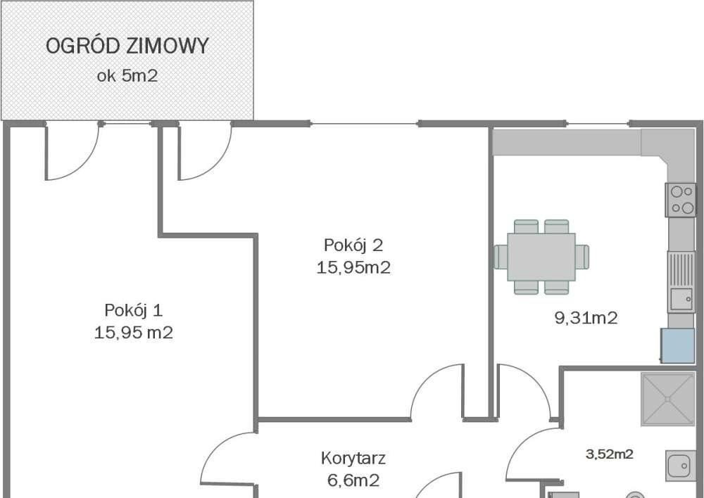 Mieszkanie dwupokojowe na sprzedaż Poznań, Nowe Miasto, Falista  51m2 Foto 1