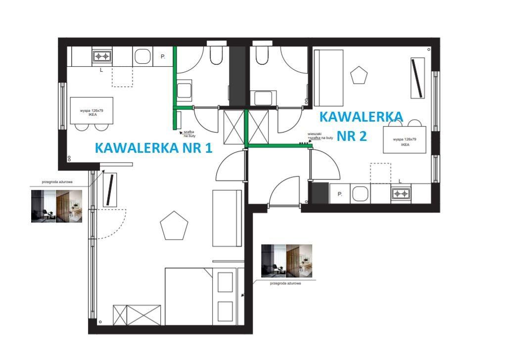 Mieszkanie czteropokojowe  na sprzedaż Kraków, Kurdwanów, Marii i Bolesława Wysłouchów  66m2 Foto 1