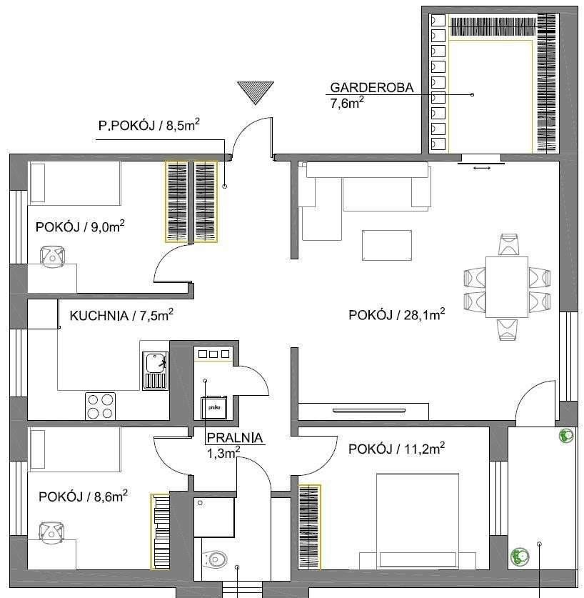 Mieszkanie czteropokojowe  na sprzedaż Wrocław, Psie Pole, Różanka, Na Polance  85m2 Foto 2