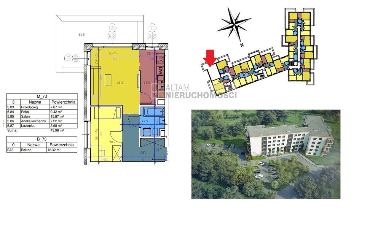 Mieszkanie dwupokojowe na sprzedaż Kraków, Czyżyny  44m2 Foto 1