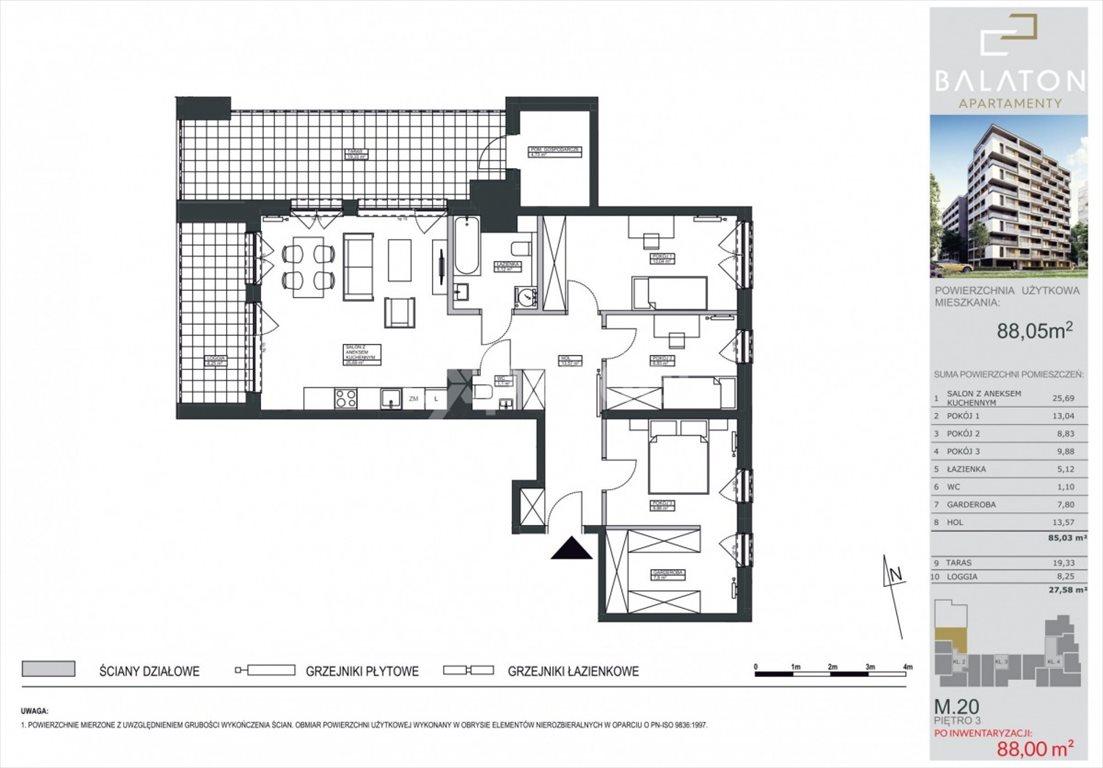 Mieszkanie czteropokojowe  na sprzedaż Bydgoszcz, Bartodzieje, Ceramiczna  88m2 Foto 1