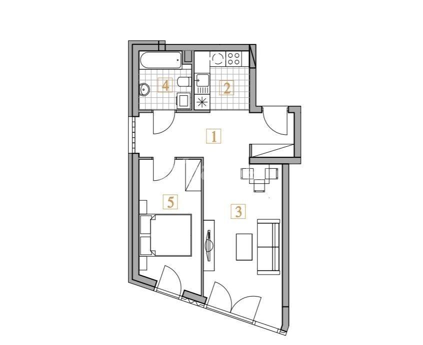 Mieszkanie dwupokojowe na sprzedaż Kraków, Krowodrza, Bronowicka  47m2 Foto 5