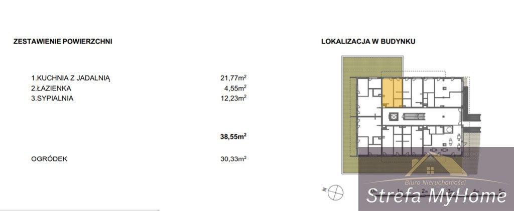 Mieszkanie dwupokojowe na sprzedaż Pobierowo  39m2 Foto 5