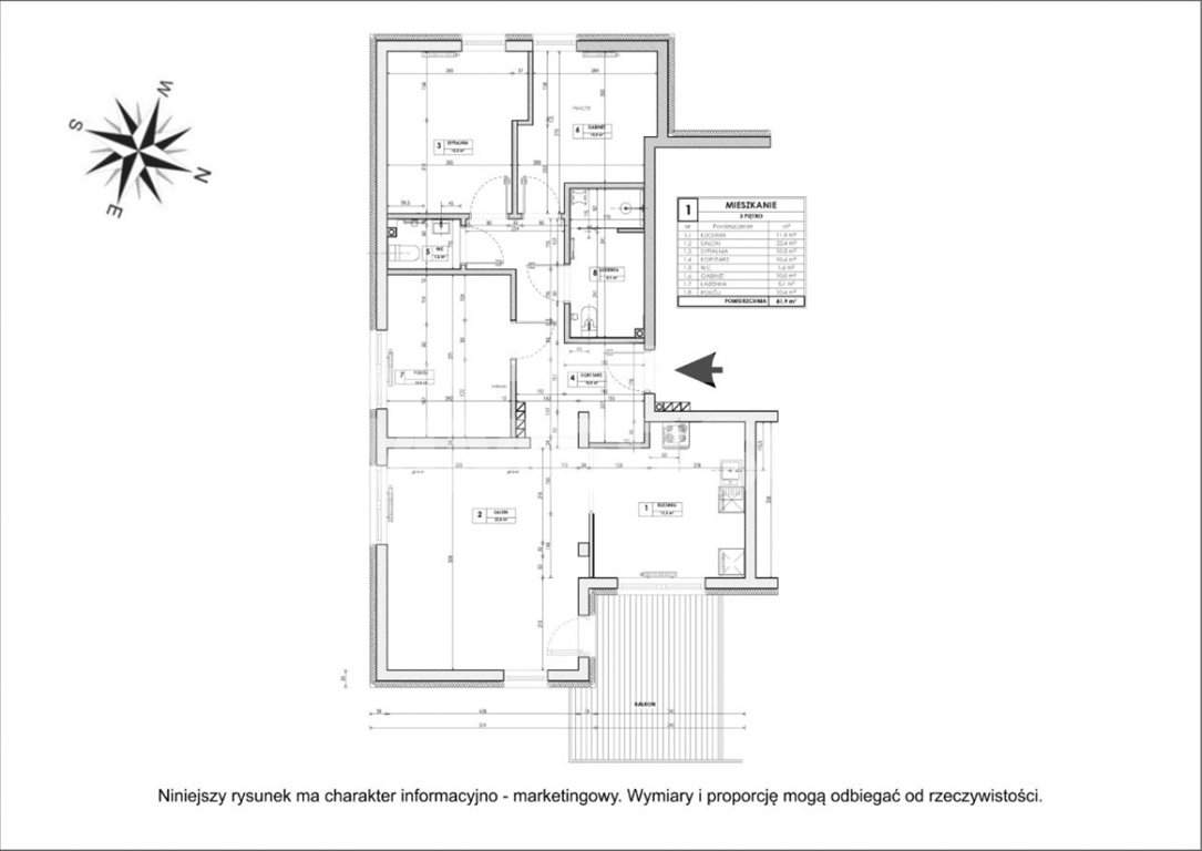 Mieszkanie czteropokojowe  na sprzedaż Wrocław, Fabryczna, Alfreda Jahna  82m2 Foto 11