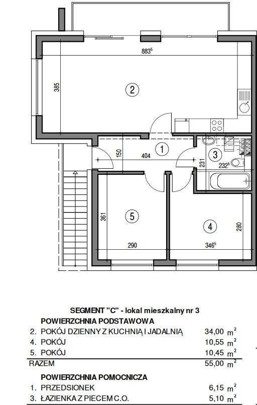 Mieszkanie trzypokojowe na sprzedaż Bielsko-Biała, Kamienica, gozdzikow 10  66m2 Foto 11