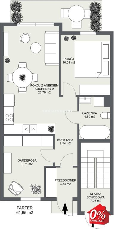 Mieszkanie trzypokojowe na sprzedaż Niepołomice, Portowa  54m2 Foto 3