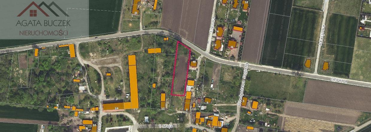 Działka budowlana na sprzedaż Bogusławice, Główna  2000m2 Foto 2