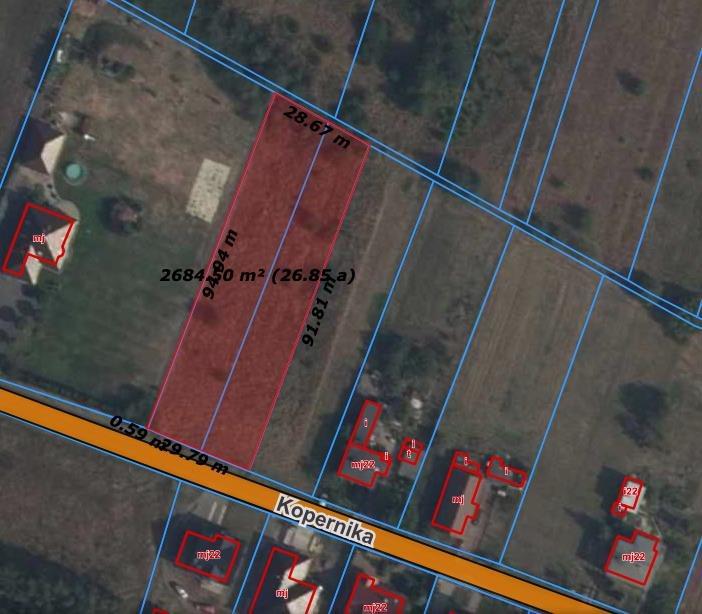 Działka budowlana na sprzedaż Dobrzeń Wielki, Kopernika  2670m2 Foto 2
