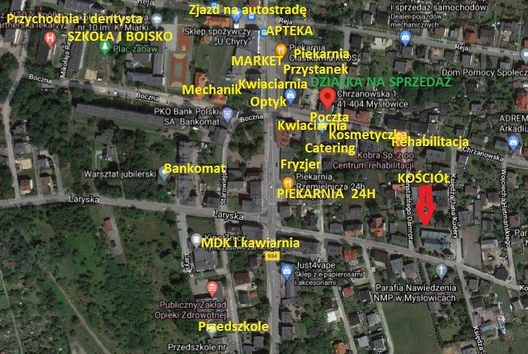 Działka inna na sprzedaż Mysłowice, Brzezinka, Kasztanowa  868m2 Foto 2