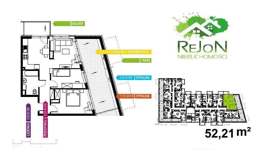 Mieszkanie czteropokojowe  na sprzedaż Gliwice, Śródmieście, gliwice  52m2 Foto 2
