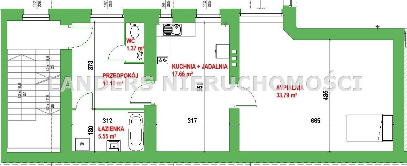 Mieszkanie dwupokojowe na wynajem Łódź, Polskiej Organizacji Wojskowej  68m2 Foto 10