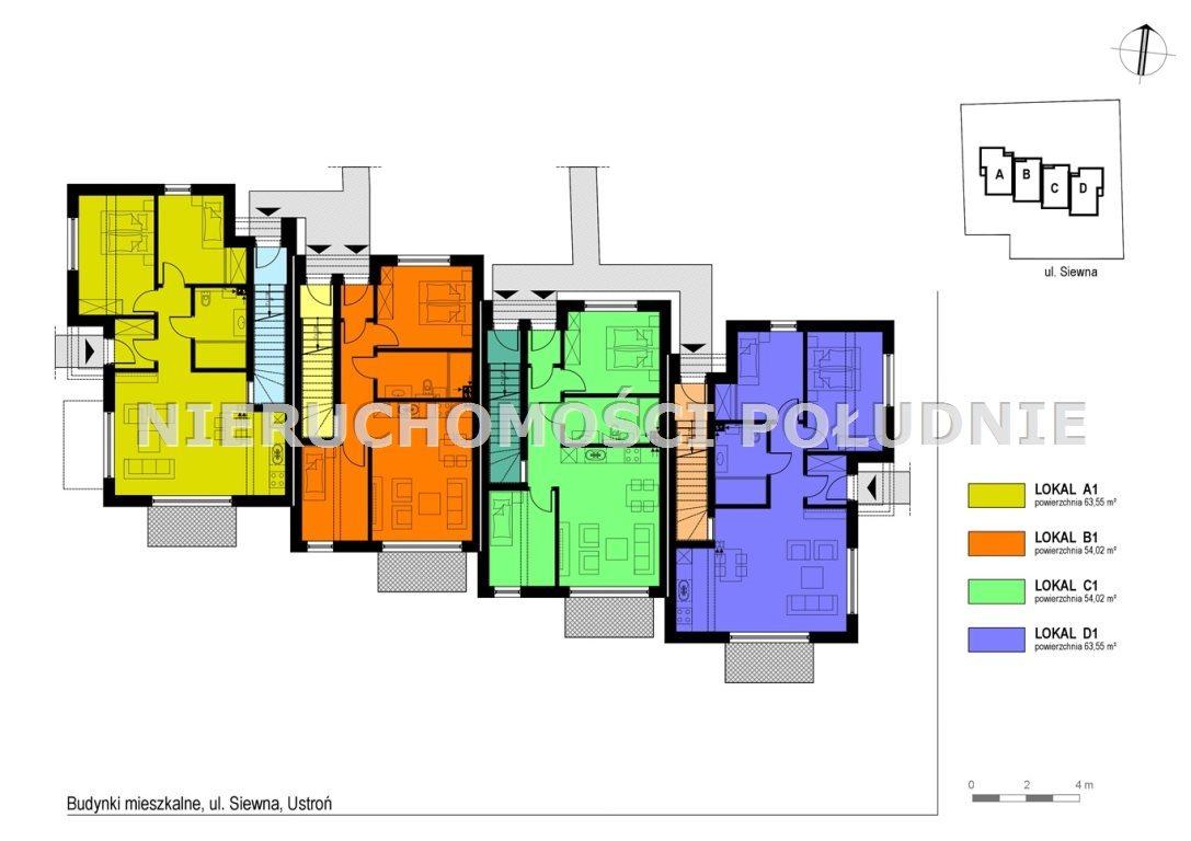 Mieszkanie trzypokojowe na sprzedaż Ustroń, Hermanice, Siewna  73m2 Foto 9