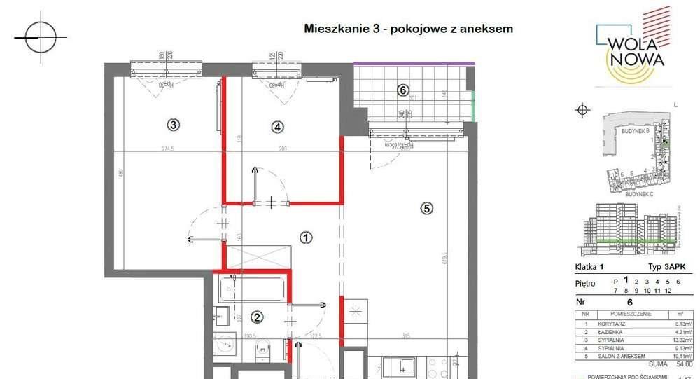 Mieszkanie trzypokojowe na sprzedaż Warszawa, Wola, Jana Kazimierza  56m2 Foto 1