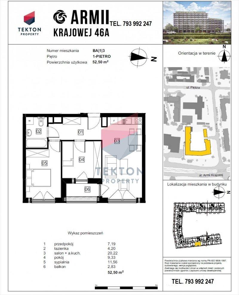 Mieszkanie trzypokojowe na sprzedaż Wrocław, Tarnogaj, Nyska  53m2 Foto 1