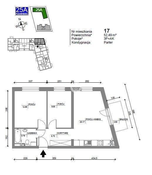 Mieszkanie trzypokojowe na sprzedaż Bydgoszcz, Bartodzieje Wielkie, Kazimierza Pułaskiego  53m2 Foto 7