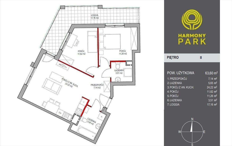 Mieszkanie trzypokojowe na sprzedaż Warszawa, Wyczólki, Kłobucka  64m2 Foto 14