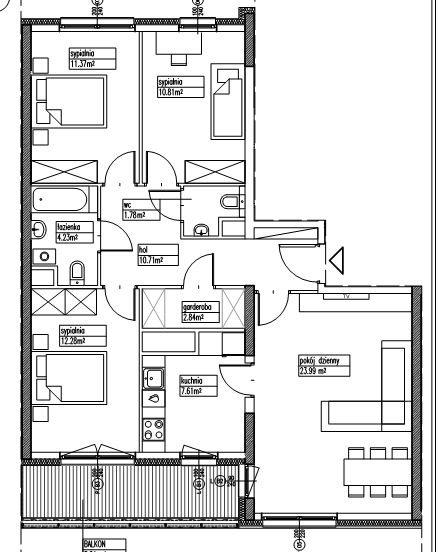 Mieszkanie czteropokojowe  na sprzedaż Warszawa, Wola, Marcina Kasprzaka  86m2 Foto 6