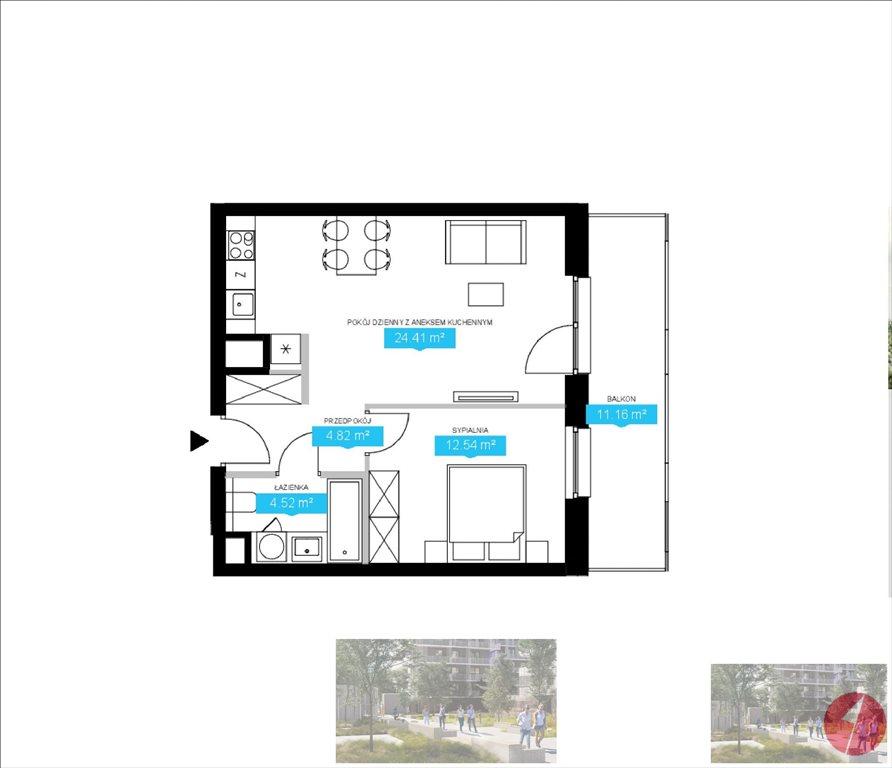 Mieszkanie dwupokojowe na sprzedaż Warszawa, Wola, J. Ordona  48m2 Foto 4