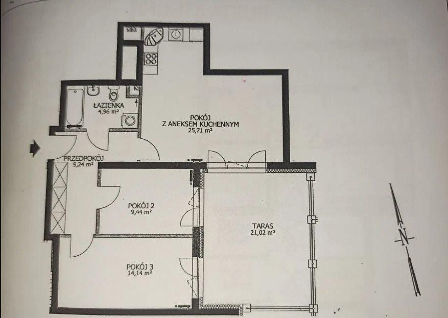 Mieszkanie trzypokojowe na sprzedaż Wrocław, Lipa Piotrowska, Lipa Piotrowska, Okolice  ul. Waniliowej  63m2 Foto 7