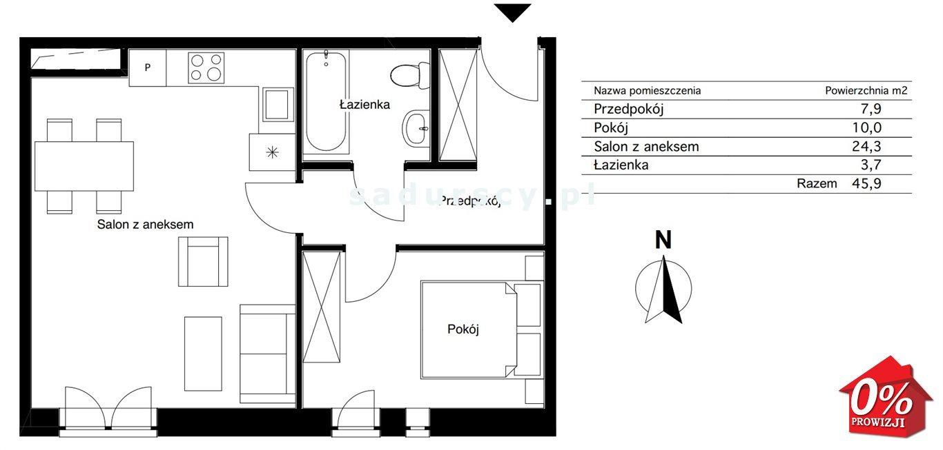 Mieszkanie dwupokojowe na sprzedaż Kraków, Bieżanów-Prokocim, Osiedle Złocień, Agatowa  46m2 Foto 3
