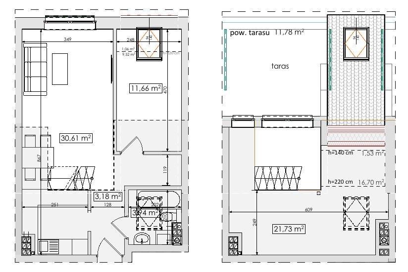 Mieszkanie trzypokojowe na sprzedaż Mierzyn, Mierzyn  71m2 Foto 3