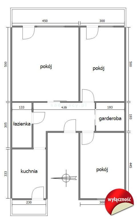 Mieszkanie trzypokojowe na sprzedaż Kraków, Grzegórzki, Osiedle Oficerskie, Kielecka  77m2 Foto 3