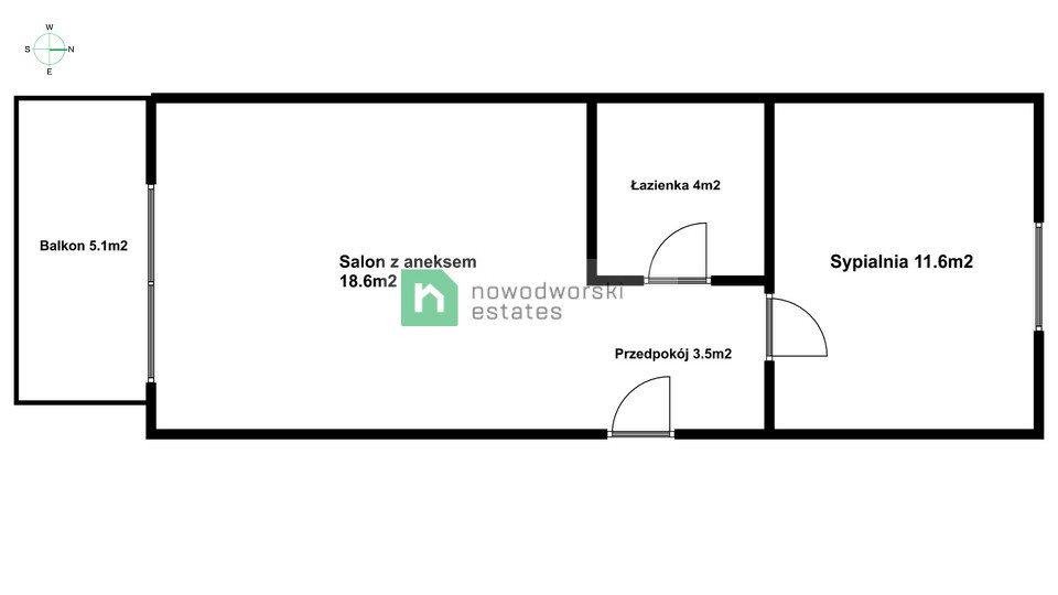 Mieszkanie dwupokojowe na wynajem Gdańsk, Orunia Górna, Kazimierza Wielkiego  39m2 Foto 12