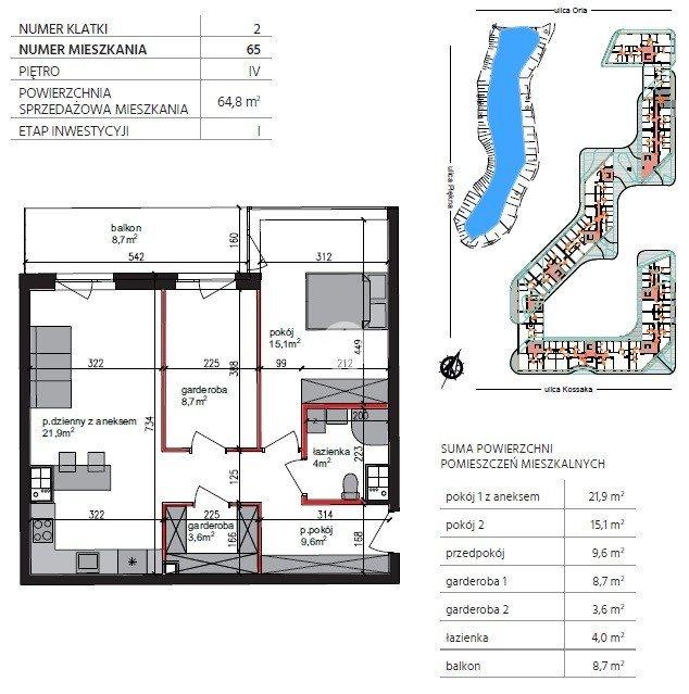 Mieszkanie trzypokojowe na sprzedaż Bydgoszcz, Szwederowo, Piękna  65m2 Foto 11