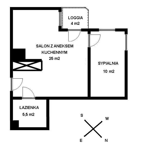 Mieszkanie dwupokojowe na sprzedaż Warszawa, Praga-Południe, Gocław, J. Meissnera 1/3  41m2 Foto 7