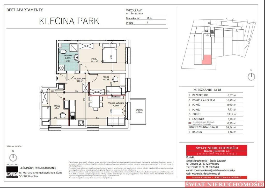 Mieszkanie czteropokojowe  na sprzedaż Wrocław, Krzyki, Buraczana  60m2 Foto 1