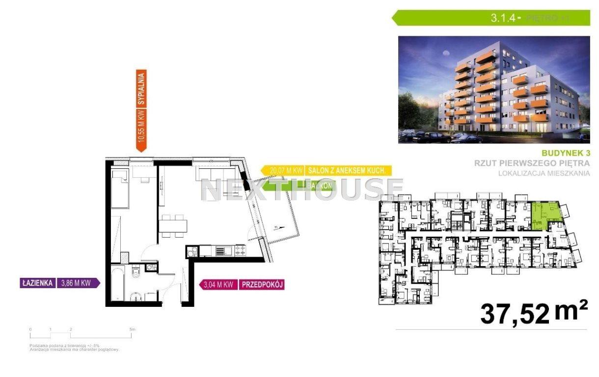 Mieszkanie dwupokojowe na sprzedaż Gliwice, Śródmieście  38m2 Foto 2