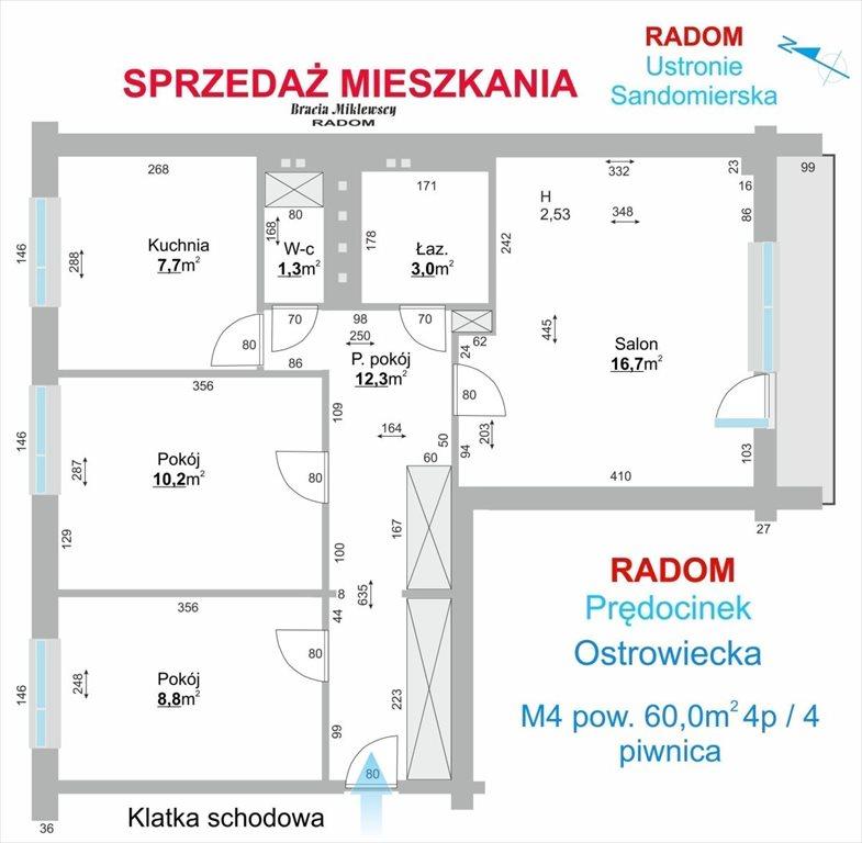 Mieszkanie trzypokojowe na wynajem Radom, Prędocinek, Ostrowiecka  60m2 Foto 3