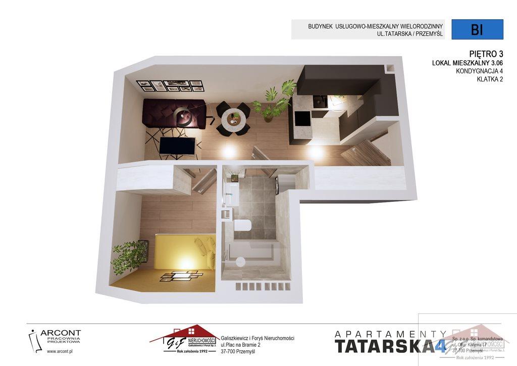 Mieszkanie dwupokojowe na sprzedaż Przemyśl, Tatarska  31m2 Foto 3