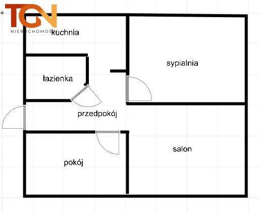 Mieszkanie trzypokojowe na sprzedaż Łódź, Doły, Boya Żeleńskiego  70m2 Foto 7