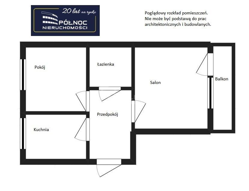Mieszkanie dwupokojowe na sprzedaż Pabianice, 2 pokoje w dobrej lokalizacji, Piaski  49m2 Foto 3