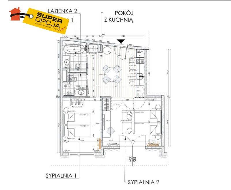Mieszkanie trzypokojowe na sprzedaż Kraków, Dębniki  51m2 Foto 2