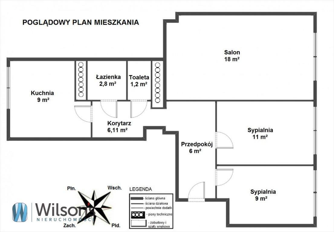 Mieszkanie trzypokojowe na sprzedaż Warszawa, Śródmieście, Aleja Solidarności  63m2 Foto 2