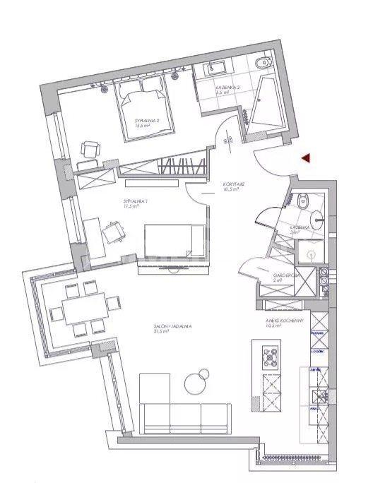Mieszkanie trzypokojowe na sprzedaż Warszawa, Wilanów, Sarmacka  90m2 Foto 4