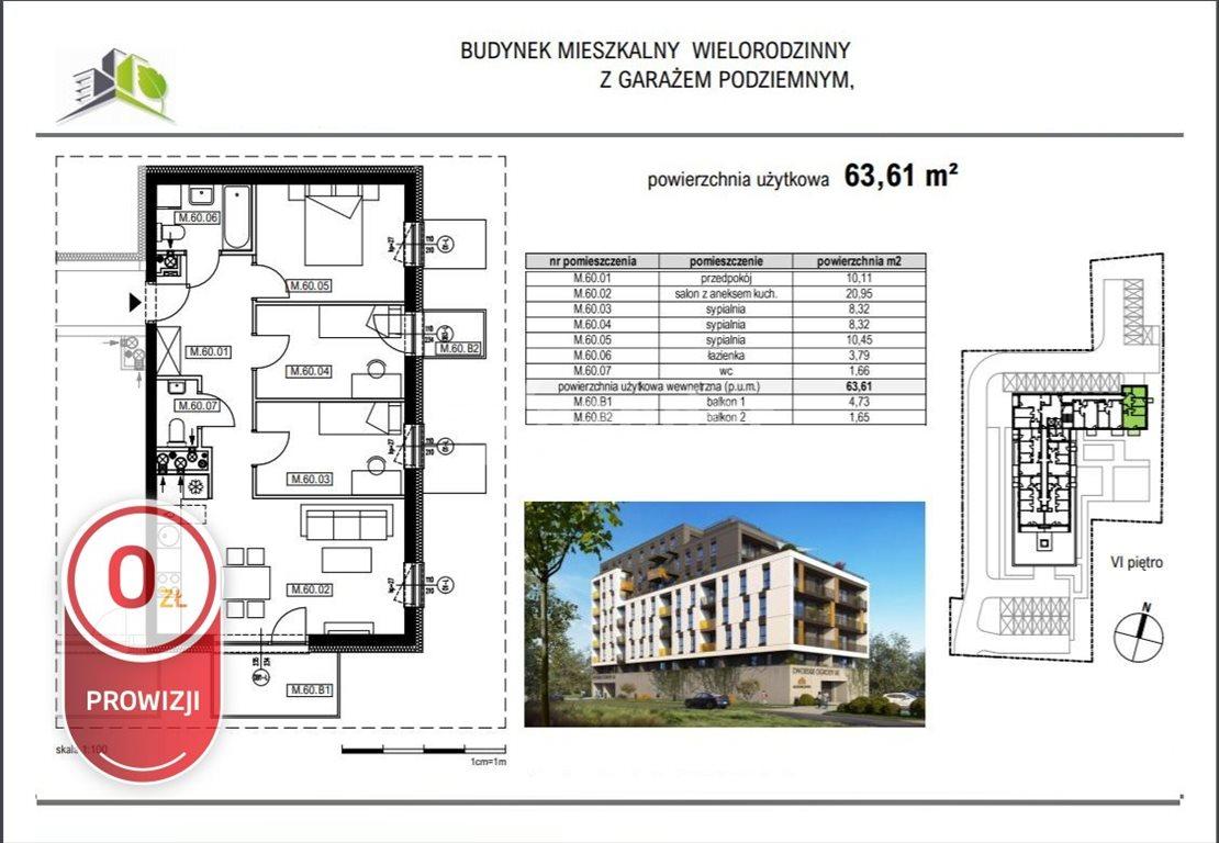 Mieszkanie czteropokojowe  na sprzedaż Rzeszów, Krakowska  64m2 Foto 5