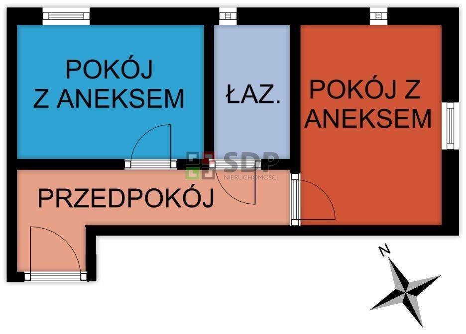 Mieszkanie dwupokojowe na sprzedaż Wrocław, Psie Pole, Sołtysowice, ok. Sołtysowickiej  38m2 Foto 1
