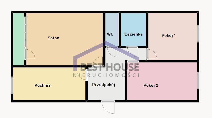 Mieszkanie trzypokojowe na sprzedaż Wrocław, Fabryczna, Gądów Mały, okolice Balonowa, M.miejskie, Rozkład, Balkon !  61m2 Foto 1