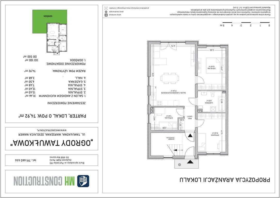 Mieszkanie czteropokojowe  na sprzedaż Warszawa, Wawer, Tawułkowa  75m2 Foto 7