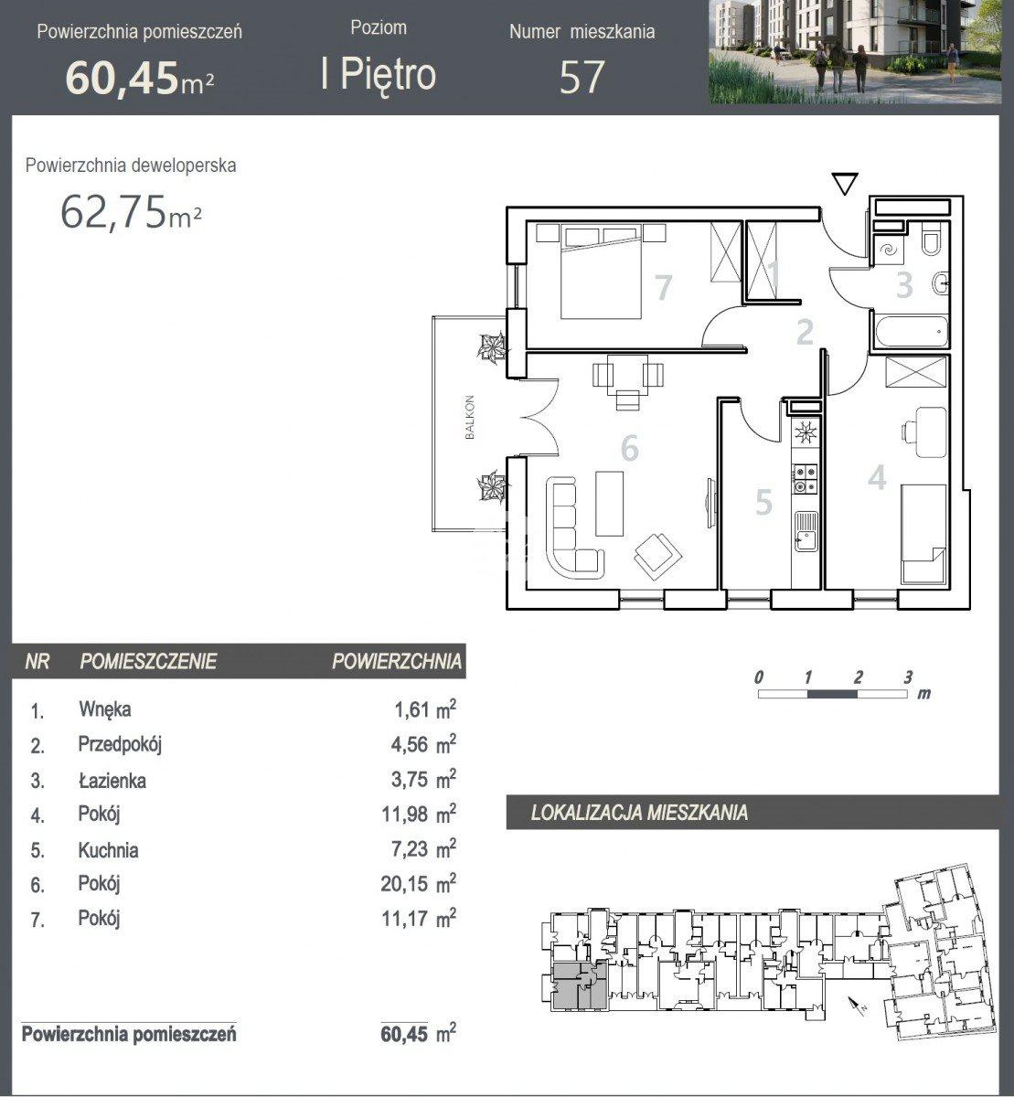 Mieszkanie trzypokojowe na sprzedaż Bydgoszcz, Szwederowo, Stanisława Leszczyńskiego  63m2 Foto 5