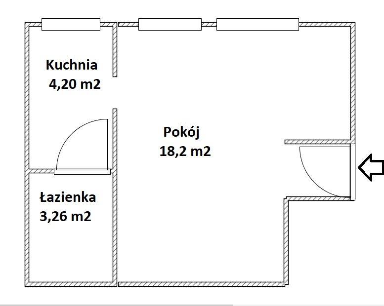 Kawalerka na wynajem Kraków, Grzegórzki, MOGILSKA  27m2 Foto 2