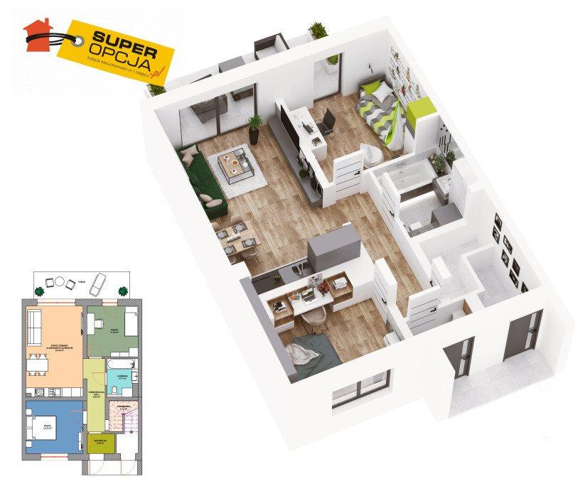 Mieszkanie trzypokojowe na sprzedaż Wieliczka  60m2 Foto 2