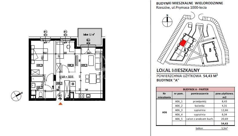 Mieszkanie trzypokojowe na sprzedaż Rzeszów, Baranówka, Prymasa 1000-lecia  54m2 Foto 7