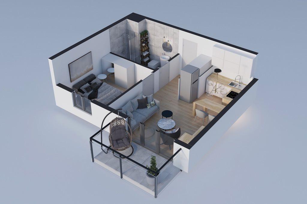 Mieszkanie dwupokojowe na sprzedaż Rzeszów, Bałtycka  36m2 Foto 2