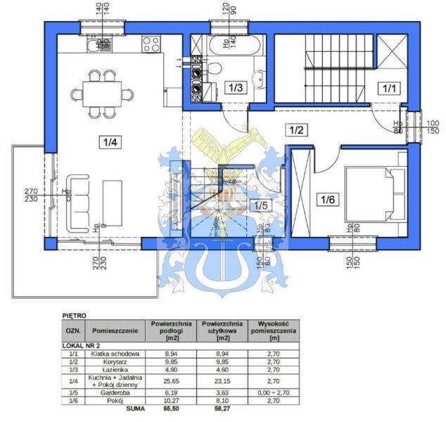 Mieszkanie czteropokojowe  na sprzedaż Kraków, Kraków-Podgórze, Opatkowice, Leona Petrażyckiego  100m2 Foto 2
