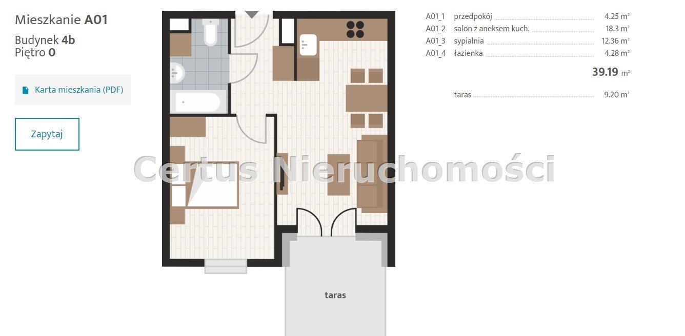 Mieszkanie dwupokojowe na sprzedaż Rzeszów, Baranówka  39m2 Foto 12