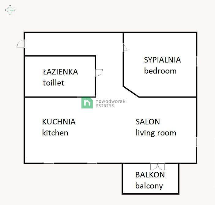 Mieszkanie dwupokojowe na wynajem Gdańsk, Chełm, Anny Jagiellonki  46m2 Foto 11